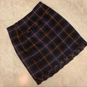Cabi Chilly Chantilly Heritage Plaid Wool Skirt